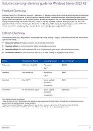 Volume Licensing Reference Guide for Windows Server 2012 R2
