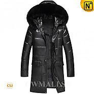 CWMALLS® Billings Patent Leather Down Coat CW890002