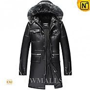 CWMALLS® Albuquerque Leather Down Jacket Patent CW890000