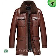 CWMALLS® New York Vintage Leather Down Coat CW817002