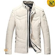 CWMALLS® New York Down Filled Leather Jackets CW807037