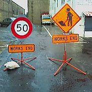 Portable Sign Base - Highway 1