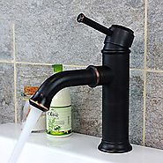Antique Brass Oil-rubbed Bronze Single Handle Bathroom Sink Faucet At FaucetsDeal.com