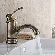 Traditional Brass Polished Brass Single Handle Bathroom Sink Faucet At FaucetsDeal.com