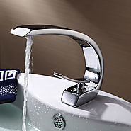Single Handle Bathroom Sink Faucet in Contemporary Style At FaucetsDeal.com