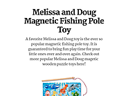 Melissa and Doug Magnetic Fishing Pole Toy