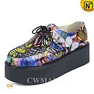 Womens Printed Flatform Shoes CW301401 - cwmalls.com