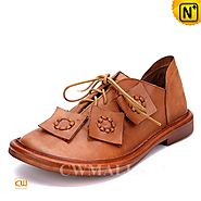 CWMALLS Handmade Leather Flats CW306001