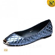 CWMALLS® Designer Leather Quilted Flats CW307007