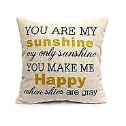 You Are My Sunshine Quote Pillow