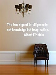 Knowledge & Intelligence Quote - Albert Einstein