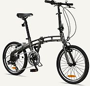 "GOTHAM7 Citizen Bike 20"" 7-Speed Folding Bike with Alloy Frame (Graphite)"