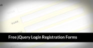 30 Best Free jQuery Login Registration and Contact Forms