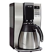 Mr. Coffee BVMC-PSTX91 Optimal Brew 10-Cup Thermal Coffeemaker, Black/Stainless Steel