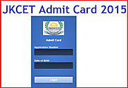JKCET 2015 Admit Card - Download at Www.jakbopee.org - Govt jobs Exam Results 2015 Admit Cards And Notifications In I...