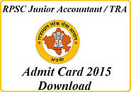 RPSC Admit Card 2015 Assistant Prof RPSC exam hall ticket - Govt jobs Exam Results 2015 Admit Cards And Notifications...
