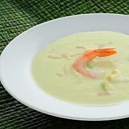 Chilled Cucumber-Prawn Soup