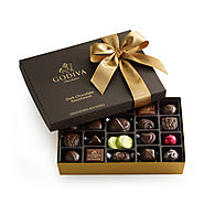 Dark Chocolate Assortment Gift Box, Classic Ribbon