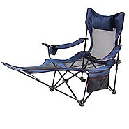 Folding Camping Chairs with Footrest