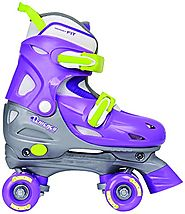 Chicago Girl's Adjustable Quad Skate, Purple/Silver, Small
