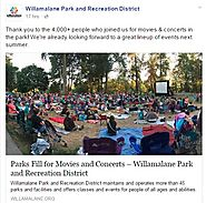 Willamalane Park and Recreation District hosts more than 4,000 people during summer music and movie events.