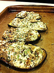 Ricotta and Artichoke Stuffed Eggplant