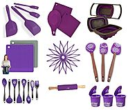 Fun Purple Colored Silicone Kitchen Utensils and Accessories