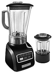 KitchenAid KSB655COB 5-Speed Blender with 56-Ounce BPA-Free Pitcher and 24-Ounce Culinary Jar - Onyx Black