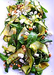 Simple Zucchini Ribbon Salad - Recipe Simple