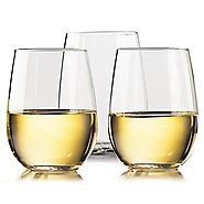TaZa! Unbreakable Wine & Cocktail Glasses - 100% Tritan Shatterproof Plastic Glasses for White or Red Wine, Cocktails...
