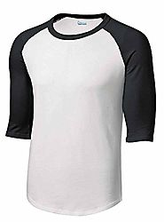 Mens or Youth 3/4 Sleeve 100% Cotton Baseball Tee Shirts Youth S to Adult 4X