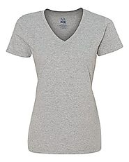 Fruit Of The Loom Women's Heavy Cotton HD V-Neck T-Shirt