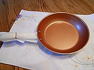 NuWave 9 Inch PerfectGreen Skillet Fry Pan For Use With PIC Induction Cooktop (Copper)