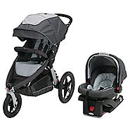 Graco Relay Click Connect Jogging Stroller Travel System, Glacier