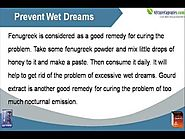 Herbal Cure To Prevent Frequent Wet Dreams In Men To Improve Health