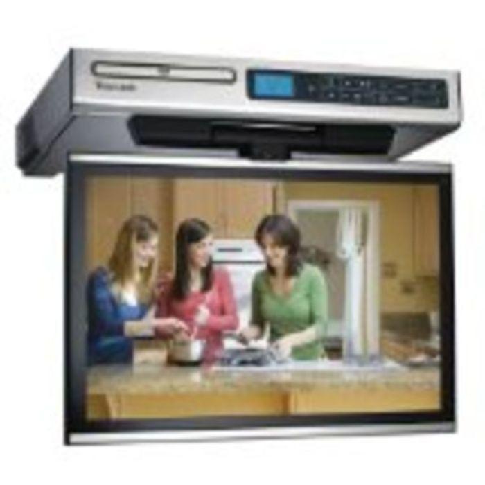 under cabinet flip down kitchen tv | bar cabinet