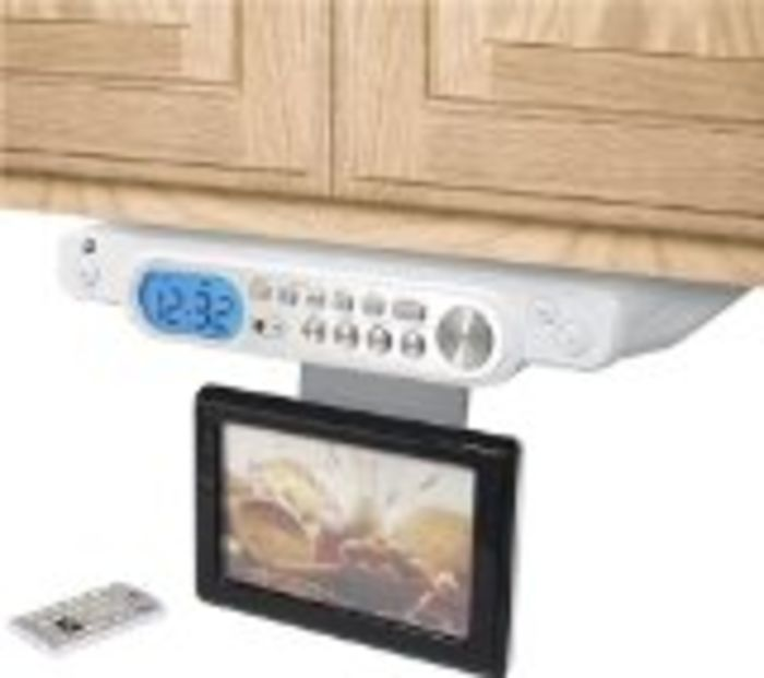 kitchen tv radio under cabinet best cabinet tvs for kitchen tv dvd combo or tv 22085