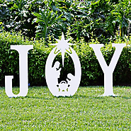 Joy Christmas Yard Sign