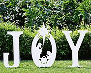 Joy Christmas Yard Sign - Tackk