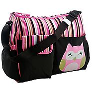 Best Diaper Bag Baby Stroller Organizer by Nimnyk, Mommy Tote Messenger Diaper Bags (Pink)