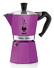 Bialetti 06909 6-Cup Espresso Coffee Maker, Purple