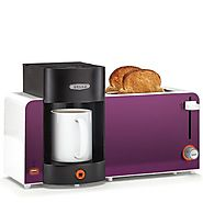 BELLA 14082 Toast and Brew Breakfast Station, Purple