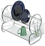 WalterDrake Two-Tier Compact Dish Rack - Two Tiered Dish Drainer