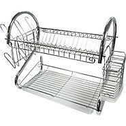 2 Tier Dish Rack with Tray -