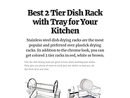 Best 2 Tier Dish Rack with Tray for Your Kitchen