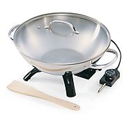 Presto 5900 1500-Watt Stainless-Steel Electric Wok