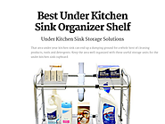 Best Under Kitchen Sink Organizer Shelf