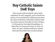 Buy Catholic Saints Doll Toys
