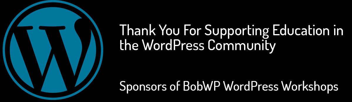 Headline for Thanks to the BobWP Workshop Sponsors