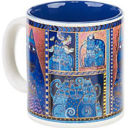 Indigo Cats Portrait Laurel Burch Artistic Collection Mug - Kitchen Things